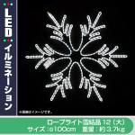 LED ロープライト雪結晶 12(大) 【プロ仕様】ご家庭用にも (ホワイト)