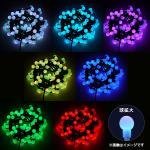LED RGBストリングライト IP55認証取得プロ仕様 ご家庭用にも  (選べるコードカラー)