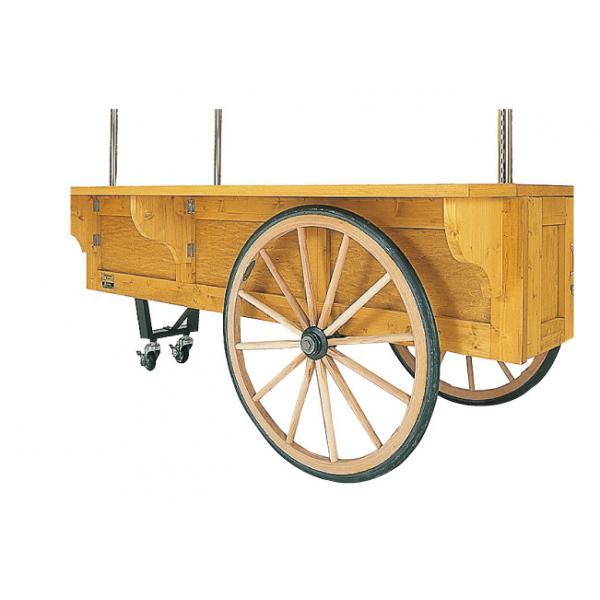 車輪車輪とシャフトは海外より輸入の本格ワゴン用車輪。強度と耐久性は抜群です。(直径≒φ800)