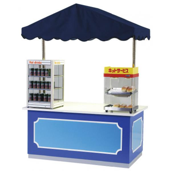 使用例ファンシーワゴンは対面販売を目的に開発されました。飲食目的だけでなく、物販・受付カウンター等にもご利用ください。