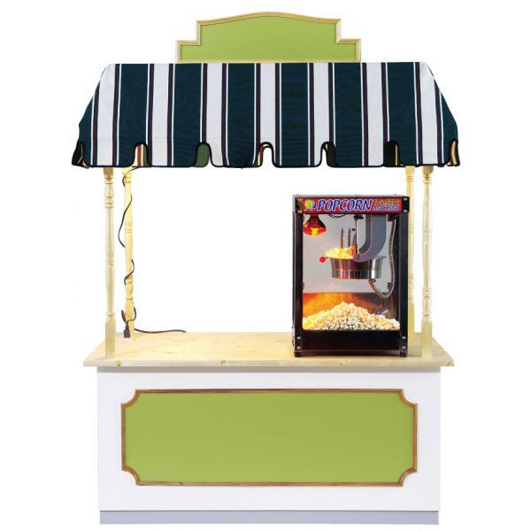 ファンシーワゴンは対面販売を目的に開発されました。飲食目的だけでなく、物販・受付カウンター等にもご利用ください。※写真天板上の設備は含まれません。