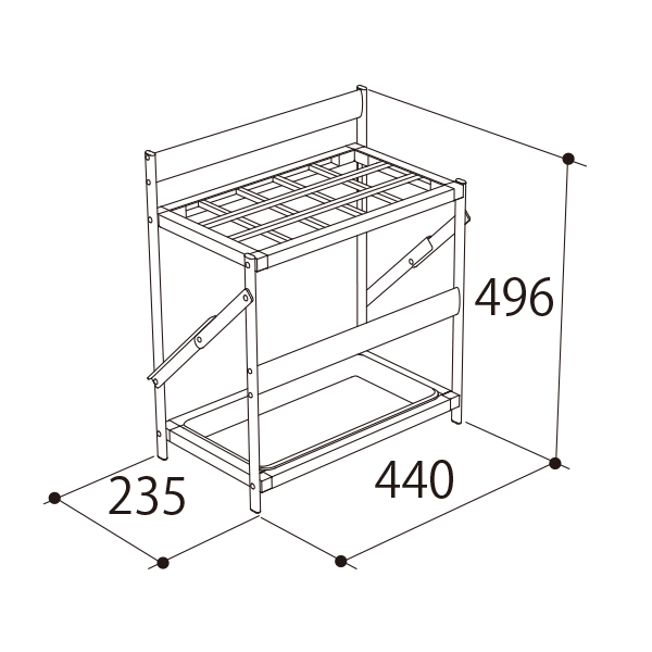 AL-PBRS(15本収納)寸法図
