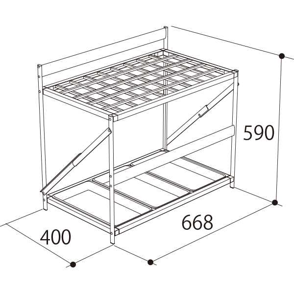 AL-PBR(45本収納)寸法図