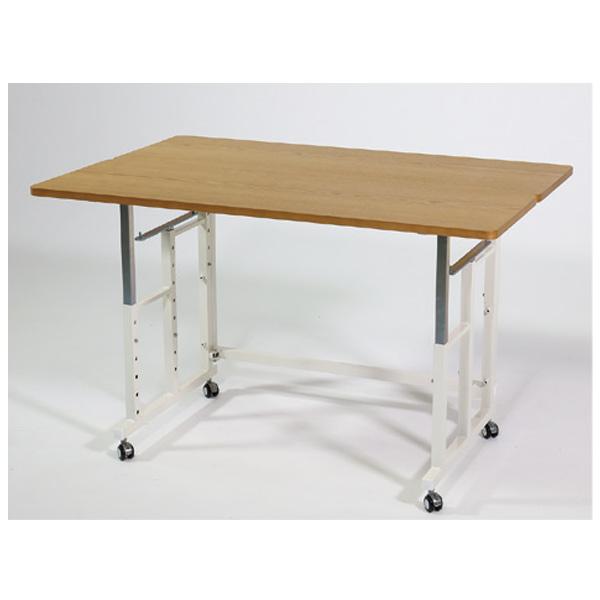 中段と下段の棚受を入れ替えるとフラットなテーブルとしてもお使いいただけます。
