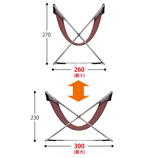 イスに合わせて底ベルトの長さ調整ができます