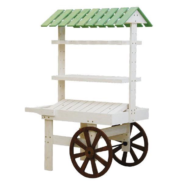 ホワイト×グリーン/車輪チーク