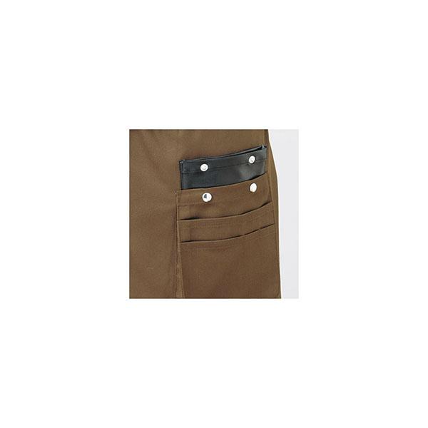 合皮のポケットが入っているから刃物を入れても安心。