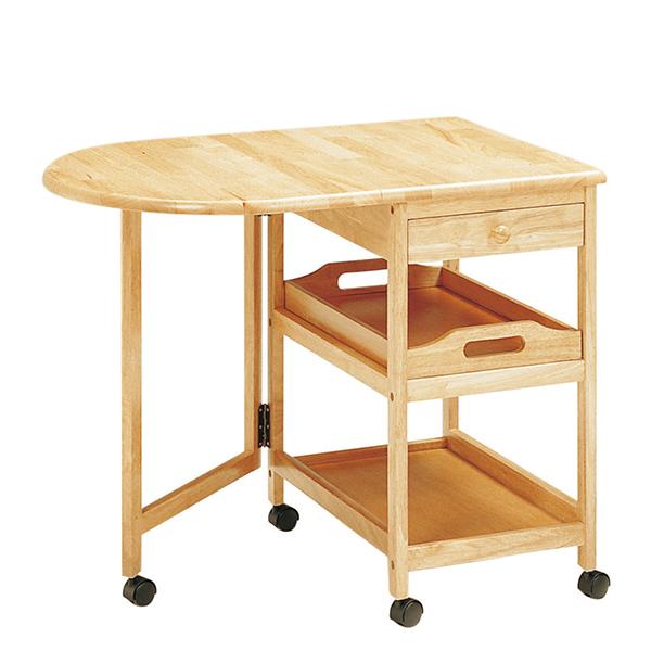 KW-415(NA) 木製テーブル付ワゴン