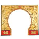455002 AW-2003 中国の門 龍と鳳凰 両面透かし木彫