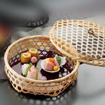 竹ボンボン篭