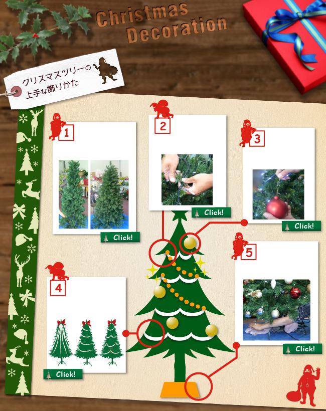 クリスマスツリーの上手な飾り方